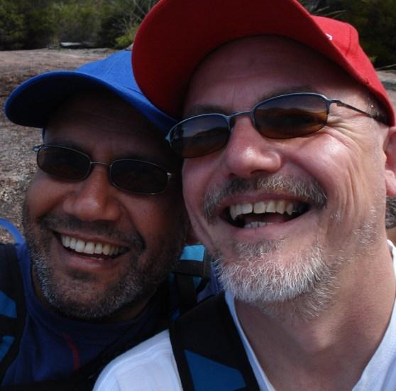 Warren and Kevin in Tasmania